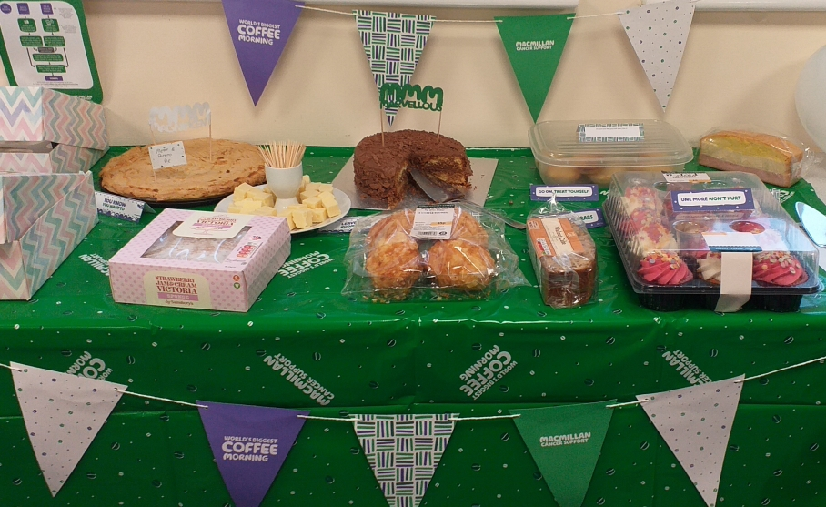 SSAIB Raise Funds for Macmillan Cancer Support During Recent Coffee Morning